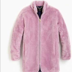 J.crew Zip up Teddy Coat NWT. Size Medium
